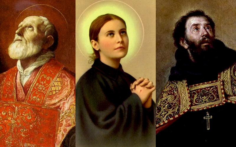São Felipe Neri, Santa Gemma Galgani e Santo Agostinho
