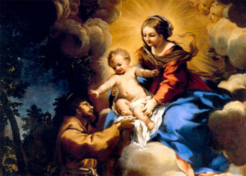 São Francisco de Assis e a Virgem Maria